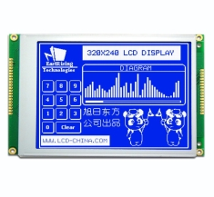 5.7 inch 320x240 Graphic LCD Module arduino w/Touch Screen,White on Blue ERM320240SBS-1